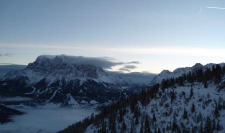 Zugspitze vom Morgen des 22.12. 2012
