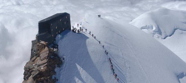 Capanna Regina Margherita auf dem Gipfel des Pta. Gnifetti (Signalkuppe), 4554m ü.M., Monte Rosa - Die höchstgelegene Hütte Europas