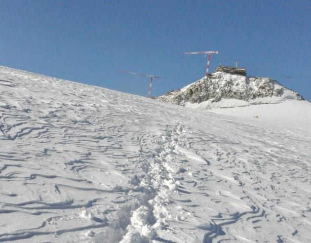 Baukräne an der Torino-Hütte